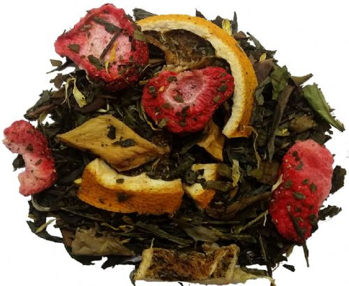 Strawberry Pineapple Green & White Loose Leaf Tea in Assorted Packs